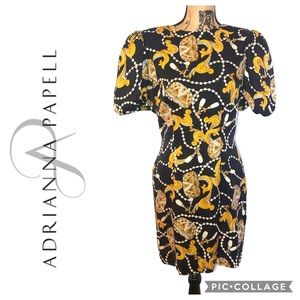 Vintage Adrianna Pepell Silk Dress Size 10